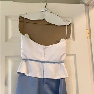Jordan Dresses - Periwinkle and white gown